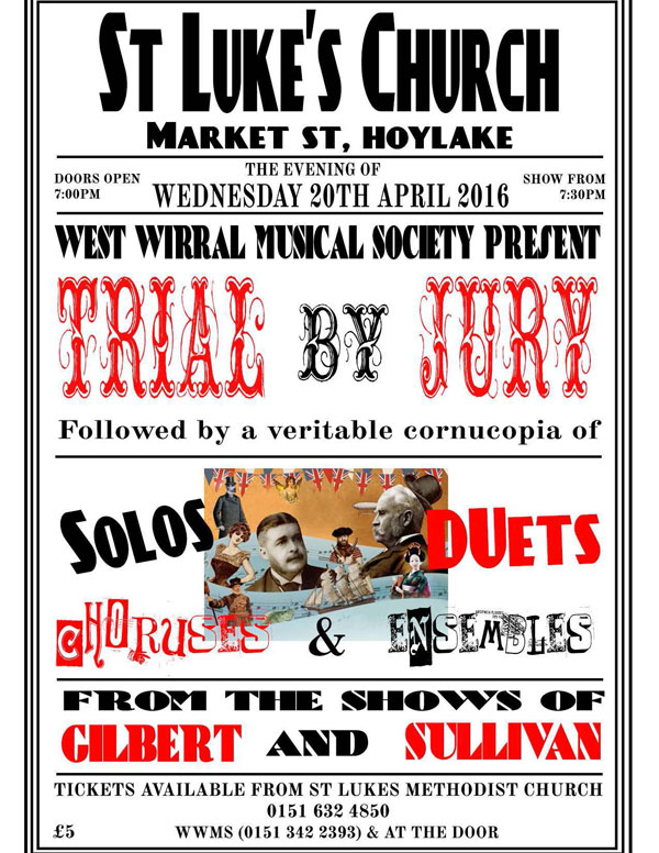 Trial by Jury Poster from 2016