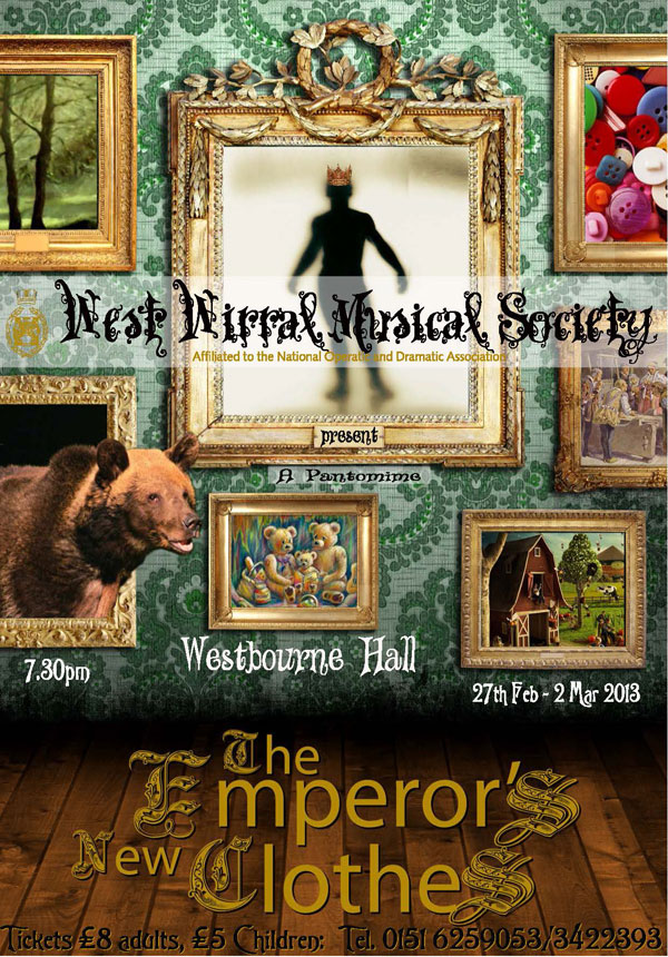 Poster for pantomime The Emperor's New Clothes