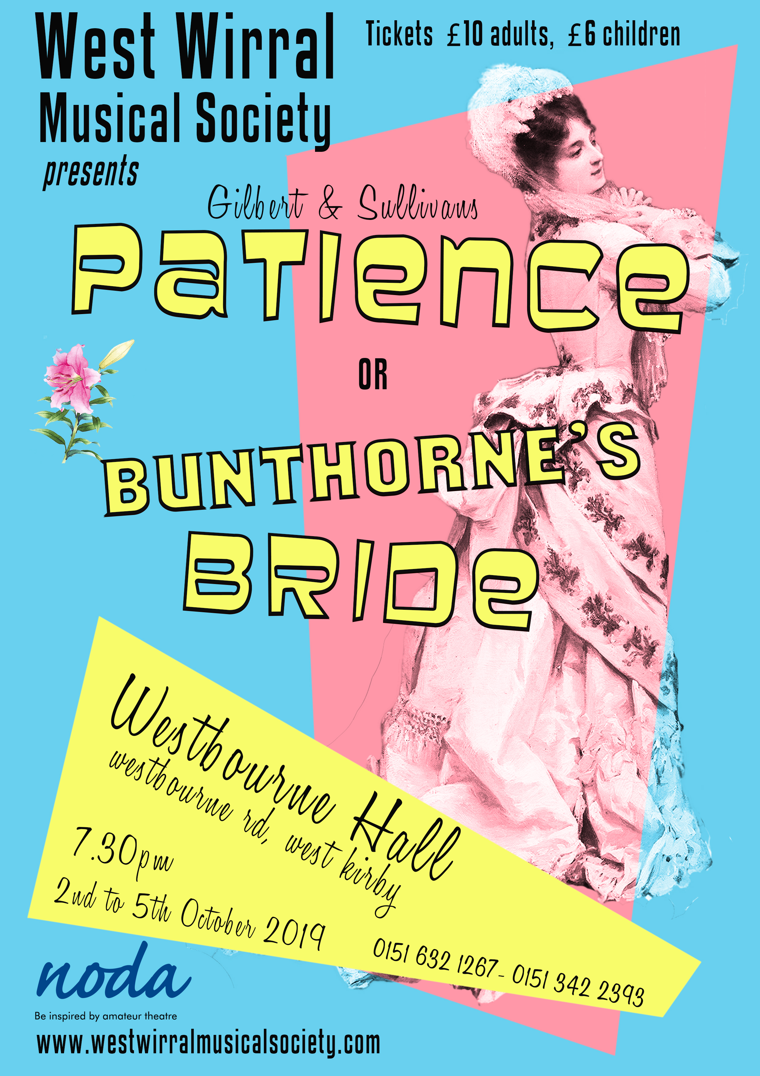 Gilbert & Sullivan's Patience - Poster for WWMS